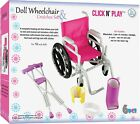 Click n' Play Doll Wheelchair and Crutches Set, Perfect For 18 inch American Gir