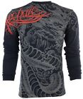 ARCHAIC by AFFLICTION Mens LONG SLEEVE T-Shirt DRAGON RAGE Tattoo Biker UFC $58 image