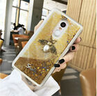 Bling Glitter Quicksand Metal Bee Design Dynamic Liquid Soft Silicone Case Cover