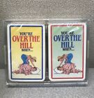 Your Over the Hill When.. Vintage Playin Cards New 2 Decks of Cards in case