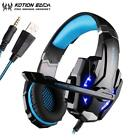 Gaming Headset Wired 3.5mm Gamer Headphone Headsets Earphone With Mic LED Lights