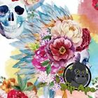LARGE PASTEL FLOWER SKULLS HYDROGRAPHIC WATER TRANSFER HYDRO FILM DIP APE