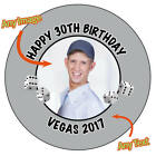 Personalised DICE VEGAS Birthday Thank you Photo Stickers Gift party Picture 491