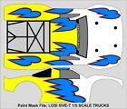 RC Paint Mask airbrush stencils Short Course Body 1/5 5IVE T Losi 5T590 DROPLETS