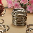 200X Key Rings Chains Split Ring Hoop Metal Loop Steel Accessories 25mm LOT