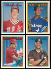 1988 Topps Traded & Rookies BB - You Pick - Complete Your Set (A07)
