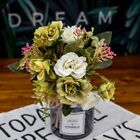 European Artificial Flowers Style Autumn Silk Rose Bouquet Small Bud Home Decor