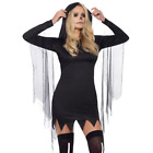 Adult Ladies Gothic Sexy Grim Reaper Death Halloween Fancy Dress Costume Outfit
