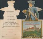 ca1930's Ticonderoga Dixon Pencil Advertising Die-Cut Folder