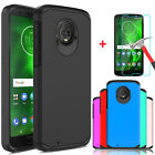 For Motorola Moto G6 Shockproof Armor Case Cover+Tempered Glass Screen Protector