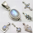 Choose STYLE, Silver MOONSTONE Pendant VARIATION First Day of Spring Deals