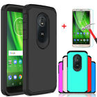 For Motorola Moto G6 Play/Forge Shockproof Case+Tempered Glass Screen Protector