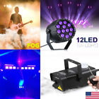 12W 12 LED Stage Lighting Party DJ Lights And Fog/Smoke Machine W/Remote Contorl