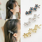 Fashion Women's Rhinestone Crystal Flower Metal Hair Pin Barrette Hairpin Clip