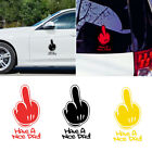 Funny Middle Finger Car Sticker Auto Window Decal Door Bumper Decoration Fine