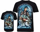 New Wolf Native American Red Indian Biker T- Shirt Front & Back Print M - XXL