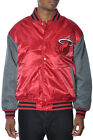 Majestic Miami Heat Satin Jacket Mens NBA Red