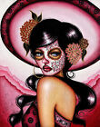The Pink Sombrero by Cat Ashworth Canvas or Paper Rolled Art Print