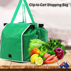 Foldable Shopping Bags Eco-Friendly Reusable Grocery Cart Trolley with Handle AU