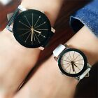 Men Women Couple Watches Fashion Quartz Analog PU Leather Wrist Watch Gifts image