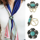 Women Butterfly Crystal Tricyclic Scarf Shawl Ring Buckle Clip Holder Pin AU
