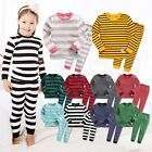 "Vaenait Baby Toddler Kids 12-7T Boys Girls Clothes Thick Pajama Set ""Stripe set"""