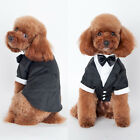 Cute Pet Dogs Cat Clothing Prince Wedding Suit Tuxedo Bow Tie Puppy Clothes Coat