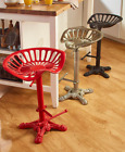 Adjustable Height Tractor Seat Stools Rustic Cast Iron Bar Counter