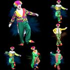 Men's Halloween Clown Costume Adult Cosplay Props Performanc