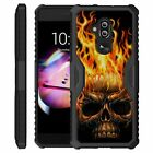 For Alcatel 7(METROPCS) Shockproof Slim Hybrid Dual Cover with Kickstand Case