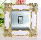 Luxurious Acrylic Embossment Flowers Single Light Switch Surround,Wall Strickers