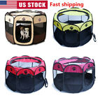 US Oxford Fabric Large Pet Dog Cat Playpen Tent Portable Fence Kennel Cage Crate