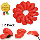 Golf Iron Head Covers 12 Pcs/Pack Golf Club Covers PU Leather 3 Colors UK Stock