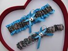 NEW Mossy Oak Camouflage Camo Turquoise Wedding Garter Prom Hunting Chick Deer