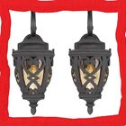 2 Outdoor Porch Patio Exterior Wall Lighting Sconce Light  Marcado Lamp BLK