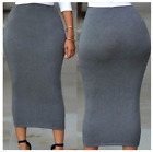 Muslim Thick Skirt Bodycon Slim High Waist Stretch Long Maxi Women Pencil Skirt фото