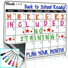 PLANNER Dry Erase Monthly Calendar Set-Large Magnetic White Board GORCERY LIST