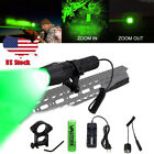 VASTFIRE 350 Yard Zoomable Red/Green Hunting LED Flashlight Varmint Hog Pig Fox