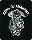 Queen SOA Sons Of Anarchy Reaper White Mink Faux Fur Blanket Warm So Soft Full