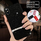 For iPhone XS Max XS XR Glitter Bling Luxury Back Case Shockproof Soft TPU Cover