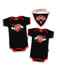 BABY MOM MUM LOVE BIKER BABY BAD ASS ROMPER NEWBORN 6-12 MONTHS 000 0