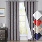 Hilton Geometric Blackout Sunlight Thermal Insulated Set of 2 Curtain Panels
