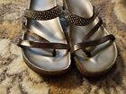 Women's Italian Shoemakers Pearl Brass Sandals Shoes GUC