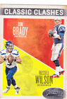 TOM BRADY & RUSSELL WILLSON Classic Clashes DUAL INSERT FOOTBALL CARD Pats Hawks