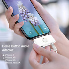 Lightning Charge Adapter With Aux Audio Jack And Home Button For Iphone X Max 8