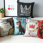 Wholesale Basquiat Graffiti Pillow Cover Linen Cotton Decorative Cushion Cover