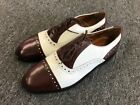 Stacy Adams Cognac White Men's Two Tone Leather Dress Shoes