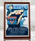 WWI+YMCA+Propaganda+Poster+-+Workers%2C+Lend+Your+Strength%2C+Homefront%2C+WW1+US