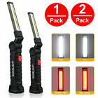 Rechargeable COB LED Slim Work Light Bright Flashlight Inspection Lamp Magnetic