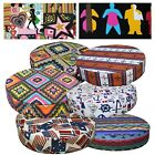 Round Box Shape Cover*Cafe Cotton Canvas Chair Seat Pad Cushion Case *AL4